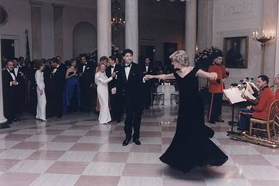 Princess Diana Dancing With John Poster by Everett