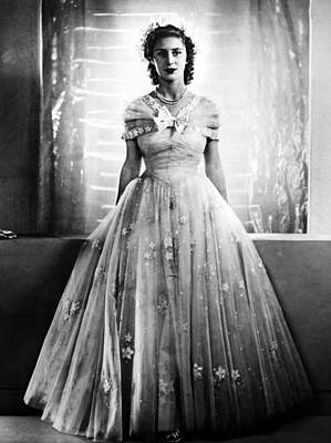 Princess Margaret, In Bridesmaid Dress Poster by Everett