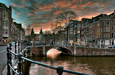 Prinsengracht And Reguliersgracht. Amsterdam Poster