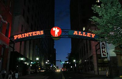 Printers Alley In Nashville Poster by Kristin Elmquist