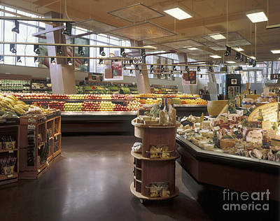 Produce Section Of A Supermarket Poster by Robert Pisano