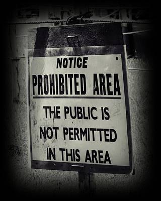Prohibited Poster by Sharon Lisa Clarke
