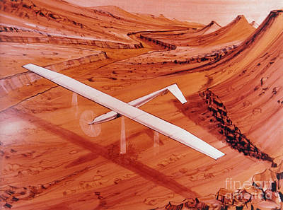 Proposed Aircraft To Study Mars Poster by NASA / Science Source