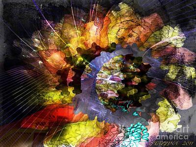 Poster featuring the digital art Protein Fleur by Danica Radman