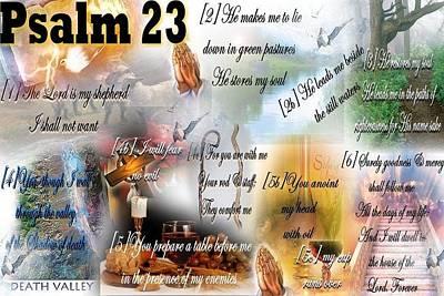 Psalm 23 Poster by Barbara Judkins-Stevens
