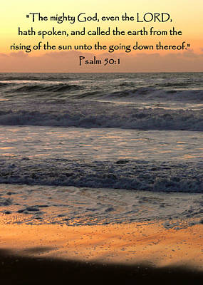 Psalm 50 Sunset Seascape Poster by Cindy Wright