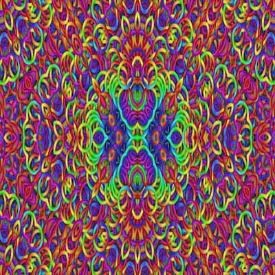 Psychedelic Kaleidoscope  Poster
