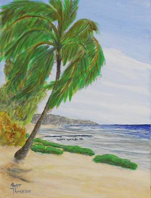 Public Beach Cayman Brac Two Poster by Monte Lee Thornton