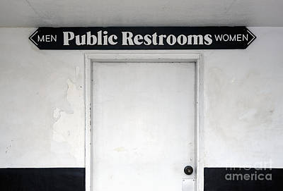 Public Restrooms Sign Poster