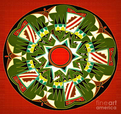 Pueblo Group Pottery Design Poster