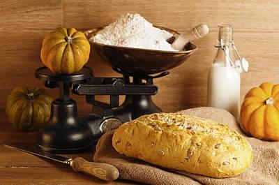Pumpkin Bread Poster by Amanda Elwell