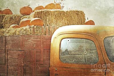 Pumpkin Farm Truck Poster