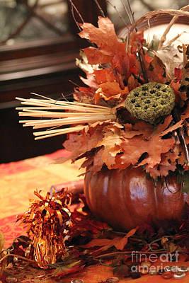 Pumpkin Leaf Decor Poster