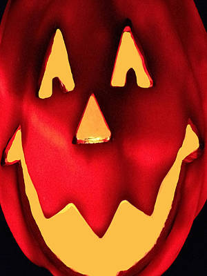 Pumpkin Smile Poster by Debra     Vatalaro