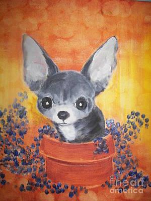 Pup In A Pot 11 Poster by Rachel Carmichael