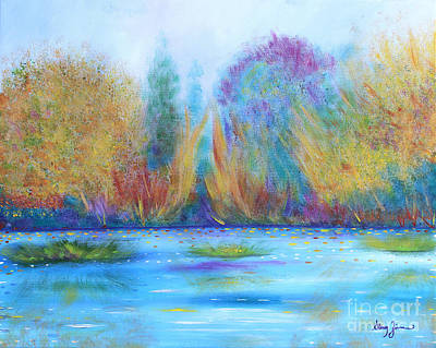 Poster featuring the painting Pure Harmony by Stacey Zimmerman