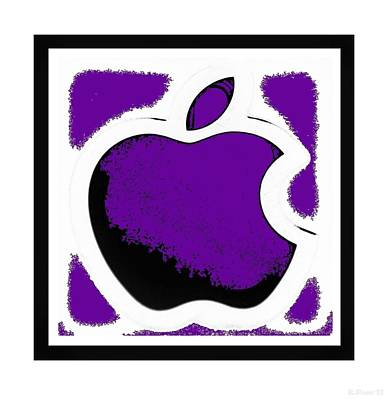 Purple Apple Poster by Rob Hans