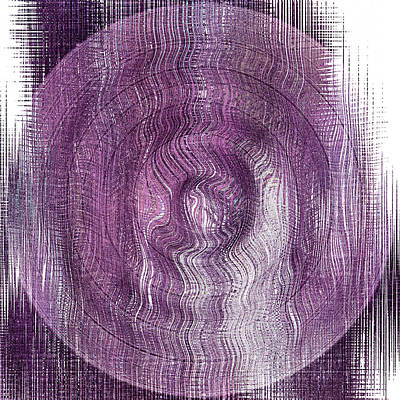 Purple Concentric Circles Poster by Bonnie Bruno