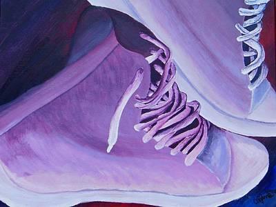Purple Kicks Poster by Arianna Stone