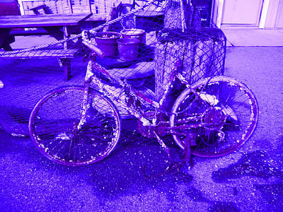 Purple Rusty Bicycle Poster