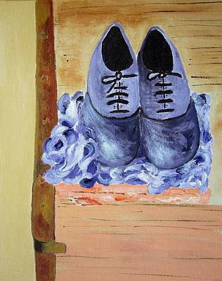 Purple Shoes Poster by Riana Van Staden