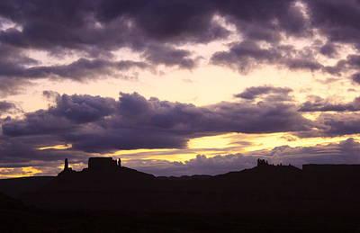 Purple Sunset Over The Desert Poster
