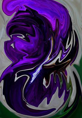 Poster featuring the digital art Purple Swirl by Karen Harrison