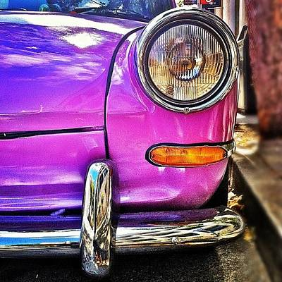 Purple Vw Bug Poster by Julie Gebhardt