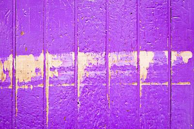 Purple Wood Poster
