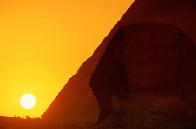 Pyramid Of Pharaoh Khafre, Sunset View Poster by Kenneth Garrett
