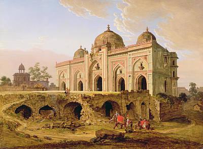 Qal' A-l-kuhna Masjid - Purana Qila Poster by Robert Smith