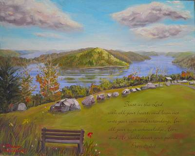 Quabbin Reservoir With Verse Poster