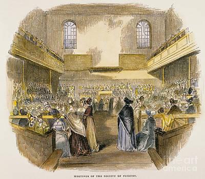 Quaker Meeting, 1843 Poster by Granger