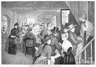 Quaker Meeting, 1888 Poster by Granger