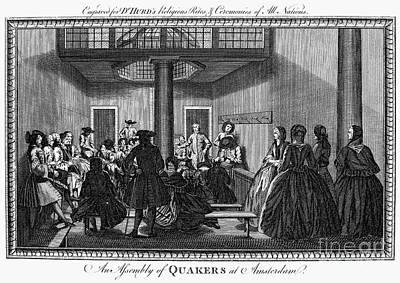 Quaker Meeting, C1790 Poster by Granger