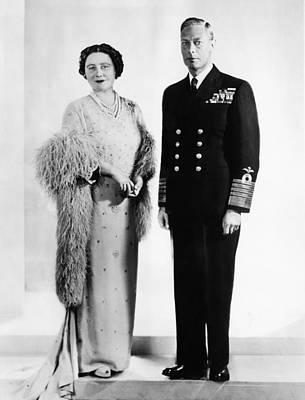 Queen Elizabeth, King George Vi Poster by Everett