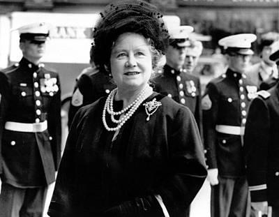 Queen Mother, Attending The Eisenhower Poster by Everett
