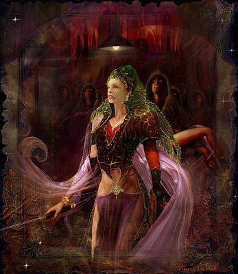 Poster featuring the painting Queen Of The Dead by Steve Roberts