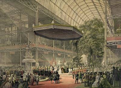 Queen Victoria Presides At The State Poster by Everett