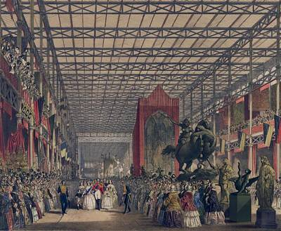 Queen Victoria With Prince Consort Poster by Everett