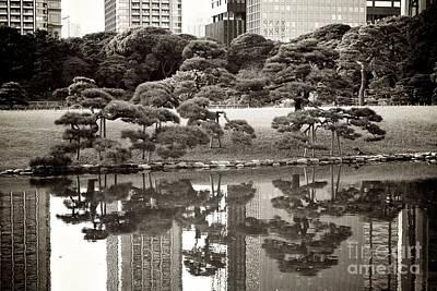 Quiet Moment In Tokyo Poster by Carol Groenen