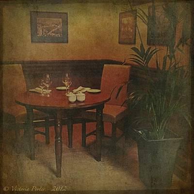 Quiet Nook In Hotel Dining Room Poster