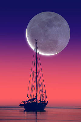 Quiet Sailboat Poster