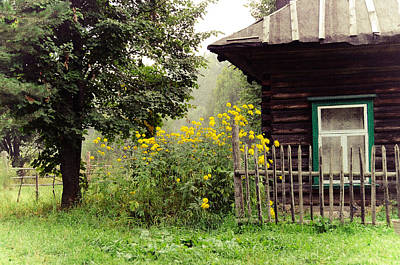 Quiet Setting. Rural Russia Poster by Jenny Rainbow