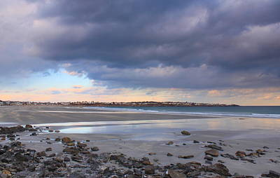 Quiet Winter Day At York Beach Poster by John Burk