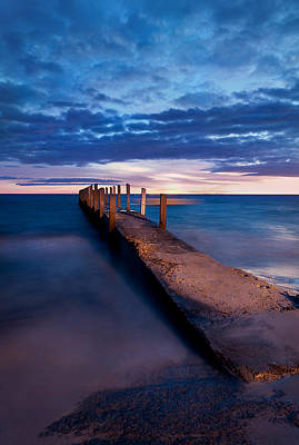 Quindalup Jetty Poster by Heather Thorning