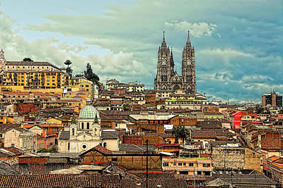 Quito Cathedral And Sorroundings Poster