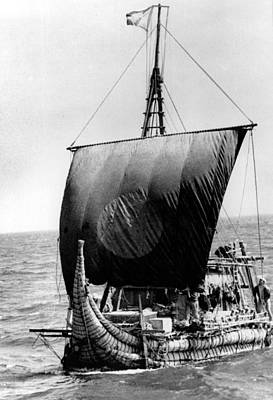Ra II, Ship Headed By Thor Heyerdahl Poster by Everett