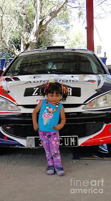 Racing Spokesmodel Poster