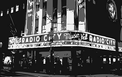 Radio City Bw3 Poster by Scott Kelley